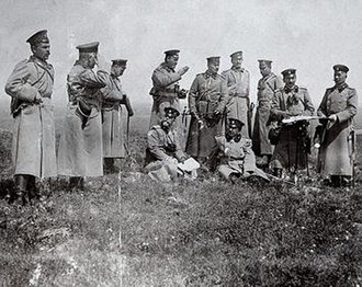Third Army (Bulgaria) - General Dimitriev, Colonel Zhostov and other staff officers during the campaign.