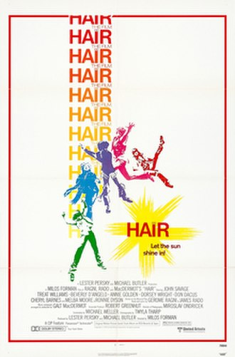 Hair (film) - Theatrical release poster by Bill Gold