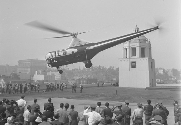 Helicopter air mail, 1947