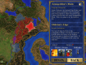 Heroes of Might and Magic - A single-player campaign map of Antagarich as seen in Heroes III: Armageddon's Blade.