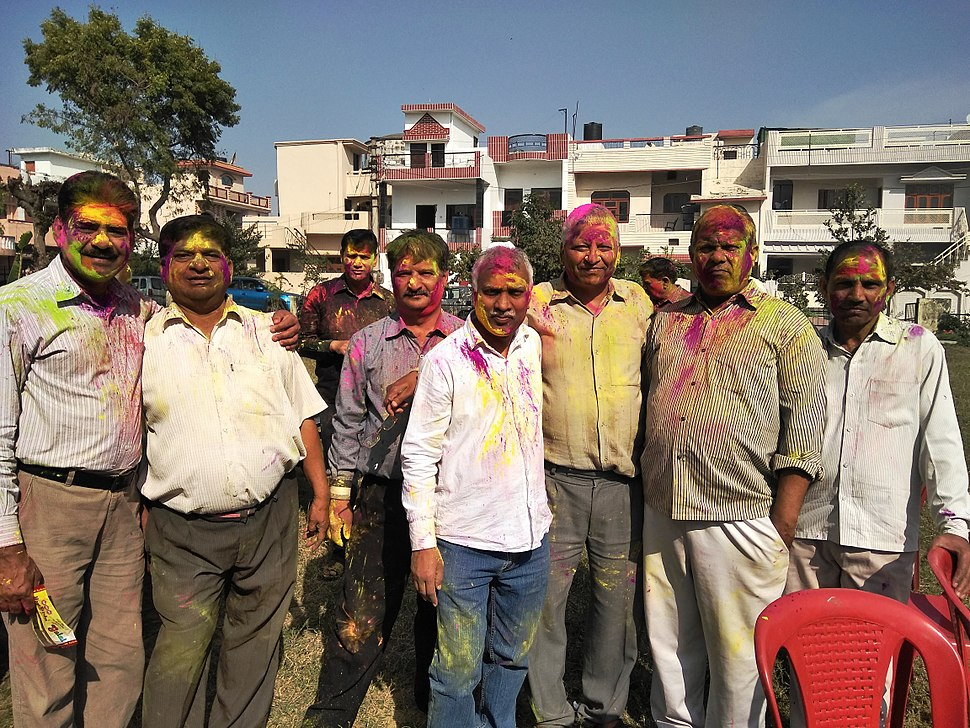 Holi celebrating in Haridwar
