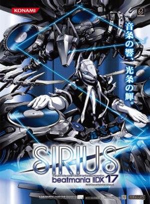 Beatmania IIDX 17: Sirius - Arcade flyer