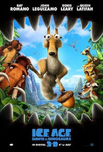 Ice Age: Dawn of the Dinosaurs - Theatrical release poster