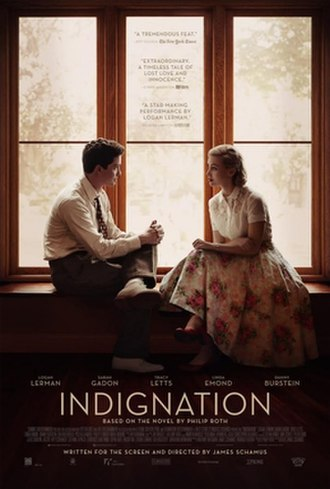 Indignation (film) - Theatrical release poster