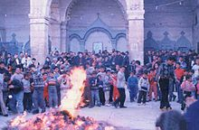 Traditional Ceremony During An Assyrian Christmas Celebration In Alqosh Northern Iraq