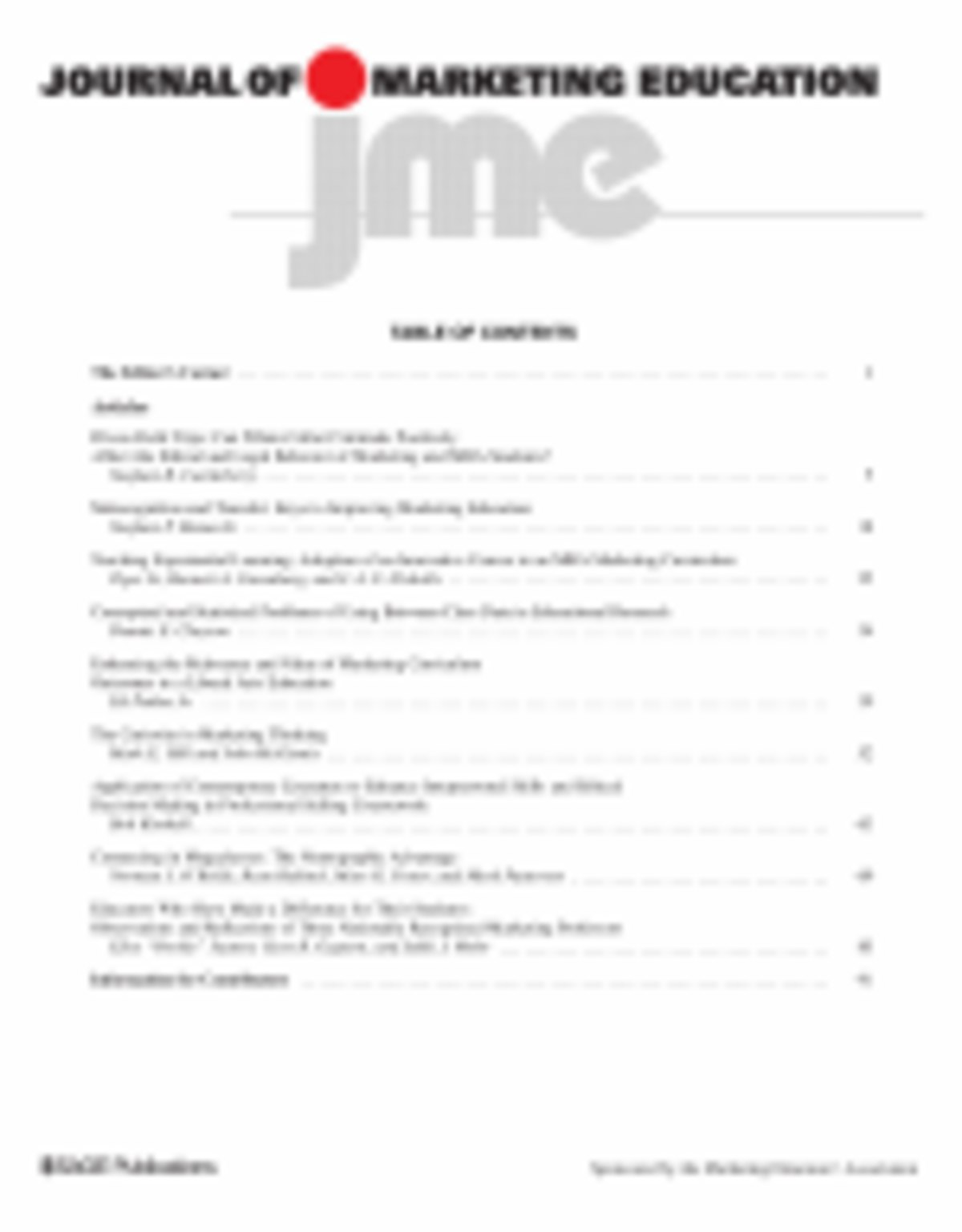 learning journal for marketing g Journal of marketing management, 20(1–2), 67  market information processing and organizational learning journal of marketing, 58(1), 35 .
