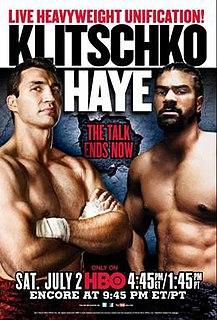 Wladimir Klitschko vs. David Haye Boxing competition