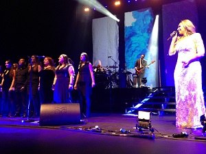 "I Am Tour (Leona Lewis) - Lewis performing ""Run"" with The Big Sing Choir at the London Palladium on 5 March 2016."
