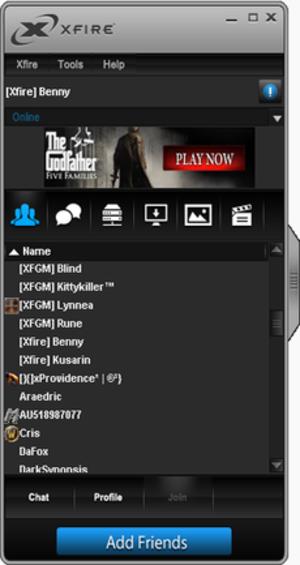 Xfire - Image: New Xfire style screenshot