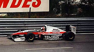Forti - Hideki Noda driving for the Forti International Formula 3000 team during the 1994 season.