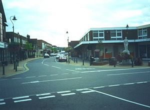 Paddock Wood - View of Commercial Road facing south west from the station