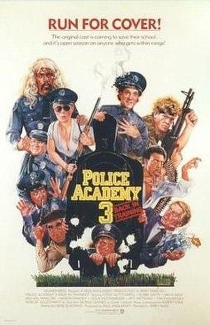 Police Academy 3: Back in Training - Poster by Drew Struzan