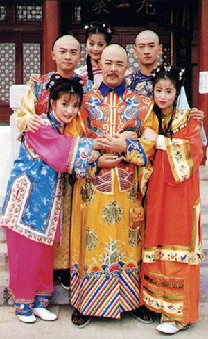 My Fair Princess - Promotional image of the main cast in 1998 (l-r): Back: Su, Fan and Zhou, Front: Zhao, Zhang and Lin