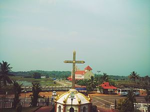 St. George Orthodox Church Puthuppally Pally - View from top of Church