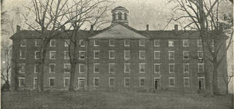 Cushing Hall - The Randolph–Macon Building in Boydton, Virginia, built in the 1830s, was designed after Cushing Hall. (The building was abandoned by the college in 1868 when it moved to Ashland due to financial reasons associated with Reconstruction.)