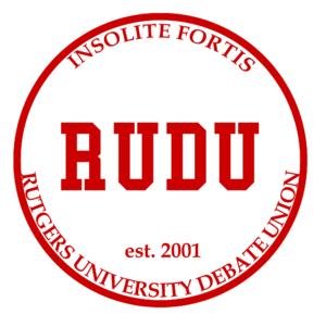 Rutgers University Debate Union - Image: RUDU Seal 2012