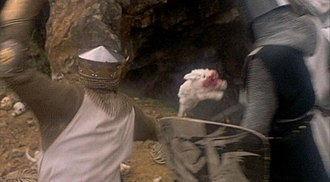 Rabbit of Caerbannog - The Killer Rabbit attacks Lancelot