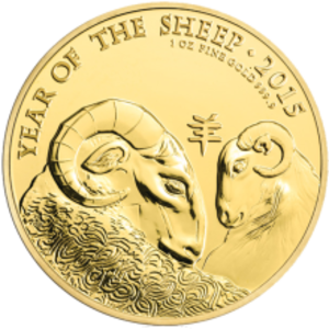 Lunar Series (British coin) - Image: Reverse Royal Mint's Year of Monkey 1 Ounce Gold Bullion