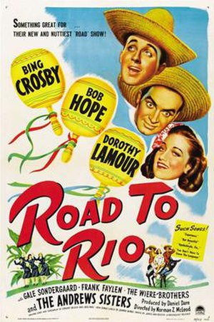 Road to Rio - Image: Road to Rio 1947 Poster