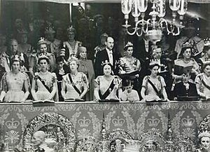 Coronation of Queen Elizabeth II - Royalty at the coronation