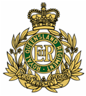 9th Battalion, Royal Queensland Regiment - Cap badge of the Royal Queensland Regiment
