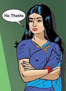 Savita bhabhi's character shown in first episode.
