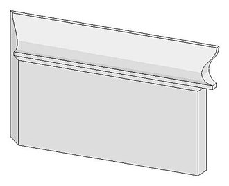 Coping (joinery) - A scribed joint (right end of sketch) is derived from an internal mitre cut (left end) by cutting along the inside face of the mitre cut at a right angle to the board, typically with a coping saw.