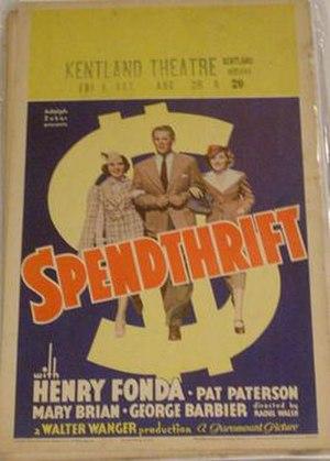 Spendthrift (film) - Image: Spendthrift 36