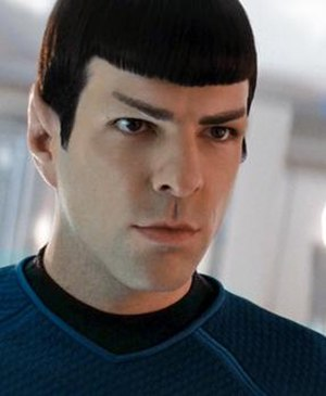 Spock - Zachary Quinto as Spock in the 2009 Star Trek film