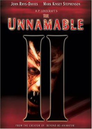 The Unnamable II: The Statement of Randolph Carter - DVD cover