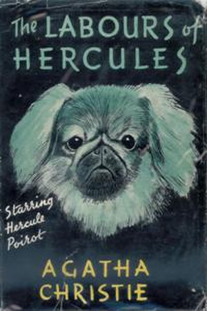 The Labours of Hercules - Dustjacket illustration of the UK first edition (the book was first published in the US)