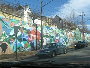 Lake Claire, Atlanta - The Watershed Mural on Dekalb Avenue