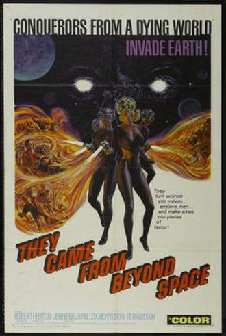 They Came from Beyond Space - Theatrical release poster