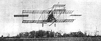 Thomas W. Benoist - Benoist making his first flight, in a Gill-Curtiss biplane at Kinloch Field in Kinloch, Missouri, on 18 September 1910.