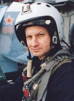 Honoured Military Pilot of the Russian Federation - Major General Timur Apakidze, a recipient of the title Honoured Military Pilot of the Russian Federation