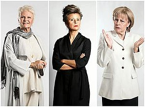 Tracey Ullman's Show - (left to right) Ullman as Judi Dench, herself, Angela Merkel