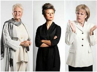 Tracey Ullman's Show - (left to right) Ullman as Judi Dench, herself, Angela Merkel