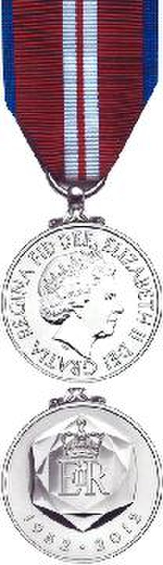 Queen Elizabeth II Diamond Jubilee Medal - The British and Commonwealth version of the Diamond Jubilee medal