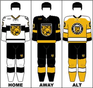 Colorado College Tigers men's ice hockey - Image: WCHA Uniform CC