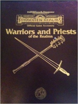 Warriors and Priests of the Realms - Image: Warriors and Priests of the Realms (D&D manual)