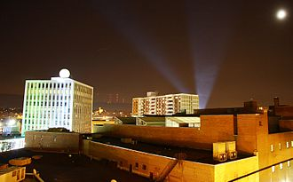 Downtown Wilkes-Barre at night Wilkes-BarreNight.JPG