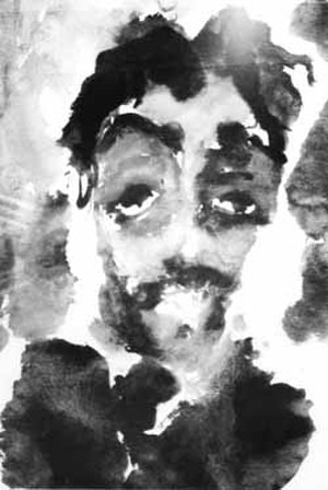 Soviet Nonconformist Art - Anatoly Zverev, Portrait of George Costakis. Late 1950s