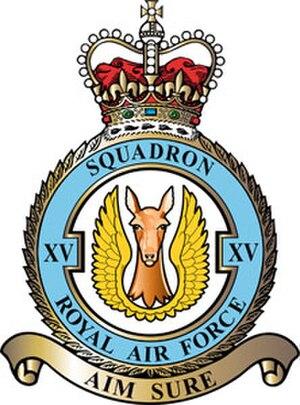 No. 15 Squadron RAF - XV Squadron badge