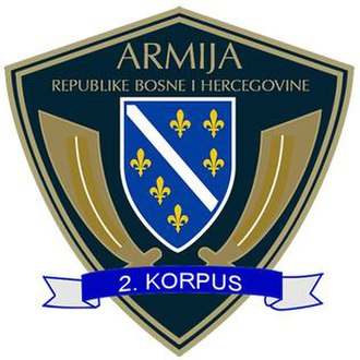 2nd Corps of the Army of the Republic of Bosnia and Herzegovina - 2nd Corps Patch