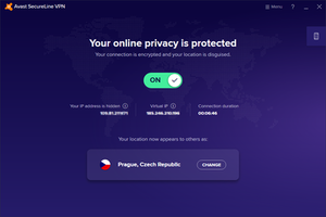Avast SecureLine VPN component of Avast Antivirus for Windows 10.