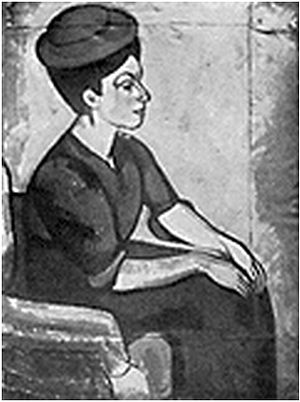 Béla Czóbel - Béla Czóbel, Portrait de Femme, c. 1908-09. Reproduced in Gelett Burgess, The Wild Men of Paris, Architectural Record, May 1910