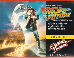 Back to the Future (1985 video game) - Commodore 64 cover art image