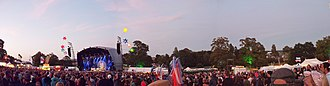 Beautiful Days (festival) - Panorama of the Main Stage in 2011