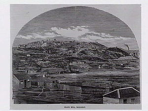 Black Hill, Victoria - Looking toward Black Hill from Ballarat in 1862