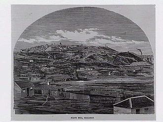 Black Hill, Victoria - Looking toward Black Hill from Ballarat in 1862